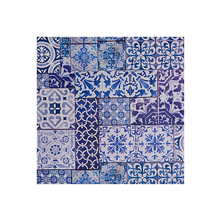 muriva blue moroccan tiles wallpaper departments diy