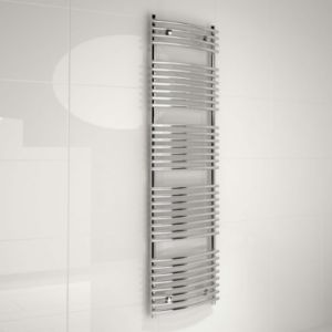 View Kudox Tube On Tube Curved Designer Central Heating System Towel Rail Chrome Chrome (H)1674 (W)450mm details