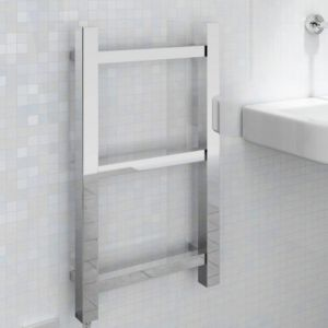 View Kudox Rubik Flat Electric Towel Warmer Chrome (H)700 (W)400mm details