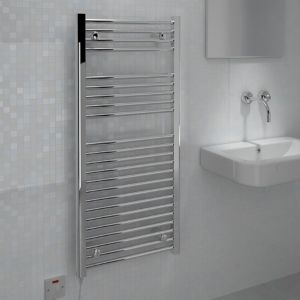 View Kudox Flat Towel Warmer Chrome (H)1100 (W)500mm details
