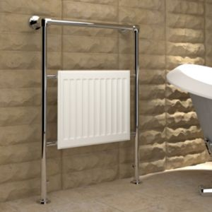 View Kudox Levana Towel Warmer Chrome Effect (H)952 (W)686mm details