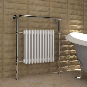 View Kudox Victoria Traditional Towel Warmer Chrome Effect (H)952 (W)800mm details