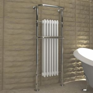 View Kudox Victoria Traditional Towel Warmer Chrome Effect (H)1500 (W)576mm details