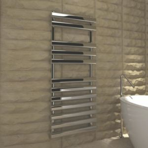 View Kudox Vectis Towel Warmer Chrome (H)1200 (W)500mm details