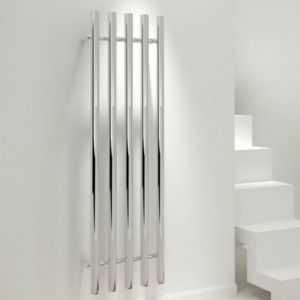 View Kudox Seresso Vertical Radiator Chrome, (H)1500 mm (W)500mm details