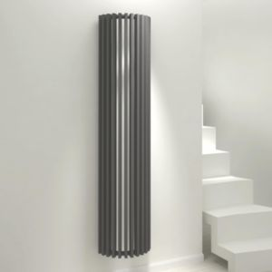 View Kudox Tallos Vertical Radiator Anthracite, (H)1800 mm (W)400mm details