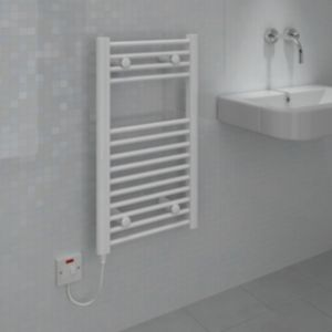 View Kudox Flat Towel Warmer White (H)700 (W)400mm details