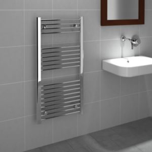 View Kudox Flat Towel Warmer Chrome Effect (H)1000 (W)500mm details
