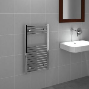 View Kudox Flat Towel Warmer Chrome (H)800 (W)450mm details