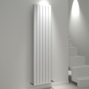 View Kudox Tira Vertical Radiator White, (H)1800 mm (W)440mm details