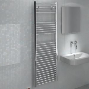 View Kudox Flat Towel Warmer Chrome (H)1500 (W)500mm details