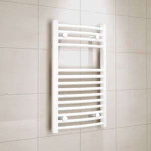 View Kudox Curved Ladder Towel Warmer White (H)700 (W)400 mm details