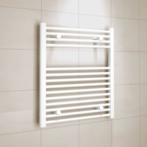 View Kudox Flat Ladder Towel Warmer White (H)700 (W)600 mm details