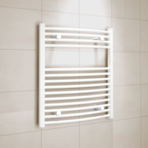View Kudox Curved Ladder Towel Warmer White (H)700 (W)600 mm details