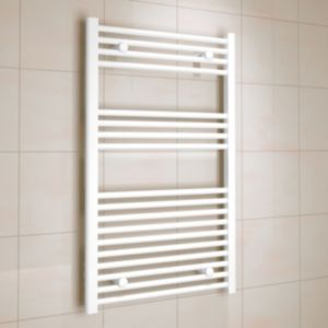 Image of Kudox 458W White Towel warmer (H)1000mm (W)600mm