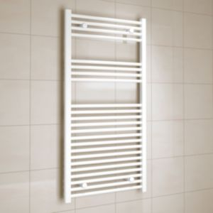 View Kudox Flat Ladder Towel Warmer White (H)1200 (W)600 mm details