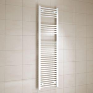 Image of Kudox 637W White Towel warmer (H)1600mm (W)450mm