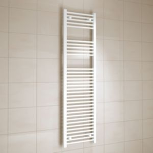 View Kudox Flat Ladder Towel Warmer White (H)1600 (W)450 mm details