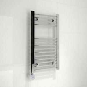 Image of Kudox 200W Silver Towel warmer (H)700mm (W)400mm