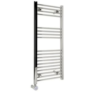Image of Kudox 300W Electric Silver Towel warmer (H)1000mm (W)450mm