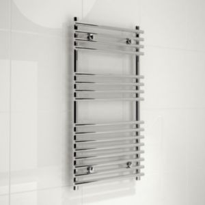 Bathroom radiators towel rails b q - Kudox Harrogate Silver Towel Rail H 900mm W 450mm