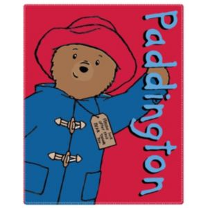 Paddington Bear Red & Blue Fleece Blanket