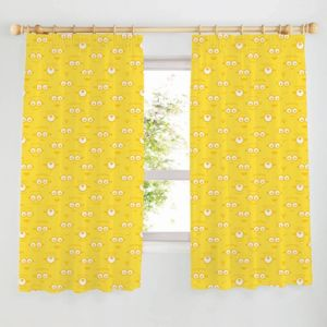 Minion Made Yellow Pencil Pleat Childrens Curtains (W)167cm (L)137cm