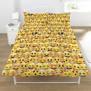 Image of Emoji Yellow Double Duvet Set