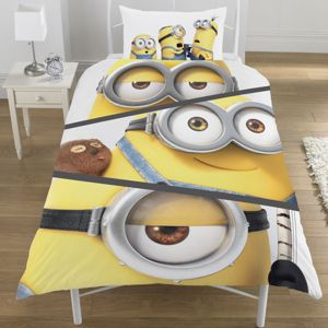 Image of Minions Split Screen Multicolour Single Duvet Set