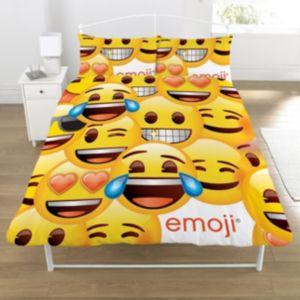 Image of Emoji Smiley Yellow Double Duvet Set