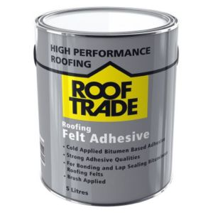 Image of ROOFTRADE Black Roofing Felt Adhesive 5L