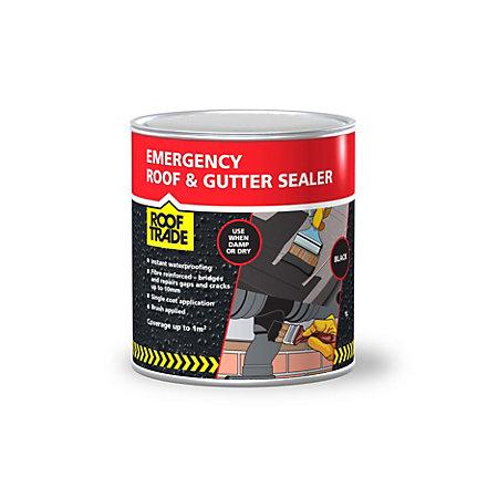 Rooftrade Black Emergency Roof Amp Gutter Sealer 1l