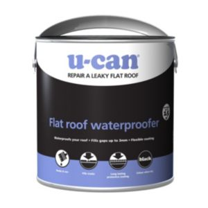 Image of U-Can Black Flat roof water proofer 2500ml