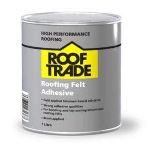 Image of Rooftrade Black Roofing Felt Adhesive 1000ml