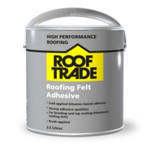 Rooftrade Black Roofing Felt Adhesive 2.5L
