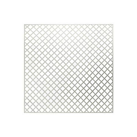 White Plastic Mosaic backer sheet, (L)300mm (W)300mm