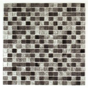 Image of Bruges Silver Foil effect Glass Mosaic tile (L)300mm (W)300mm