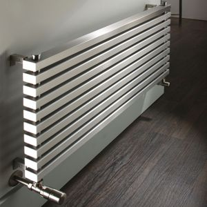 Image of Accuro Korle Cadence Horizontal Radiator Stainless Steel (H)465 mm (W)1000 mm