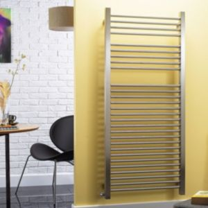 Image of Accuro Korle Centurion Silver Towel warmer (H)1500mm (W)580mm