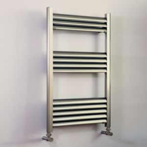 Image of Accuro Korle Champagne Silver Towel warmer (H)800mm (W)500mm