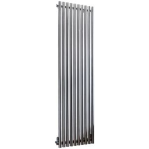 View Accuro Korle Impulse Vertical Radiator Stainless Steel, (H)1500 mm (W)460 mm details