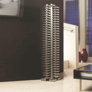 View Accuro Korle Totem Vertical Radiator Stainless Steel, (H)1325 mm (W)270 mm details