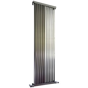 View Accuro Korle Zephyra Vertical Radiator Brushed, (H)1500 mm (W)468 mm details