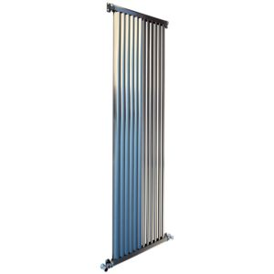 View Accuro Korle Zephyra Vertical Radiator Brushed, (H)1800 mm (W)468 mm details