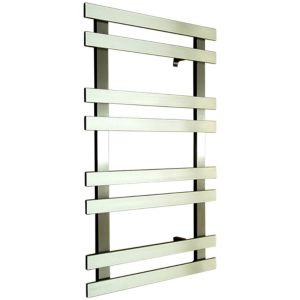 Image of Accuro Korle Daisy Silver Towel warmer (H)840mm (W)500mm