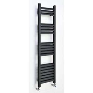 Image of Accuro Korle Champagne Vertical Towel warmer Anthracite (H)1200 mm (W)500 mm