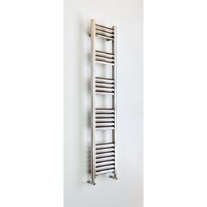 Champagne Vertical Towel Warmer Brushed Aluminium (H)1400 mm (W)300 mm