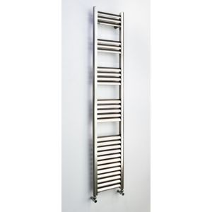 Image of Accuro Korle Champagne Vertical Towel warmer Brushed aluminium (H)1600 mm (W)300 mm