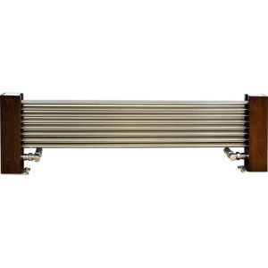 Excel Horizontal Designer Radiator Brushed Aluminium (H)300 mm (W)1000 mm