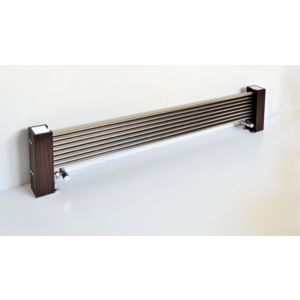 Excel Horizontal Designer Radiator Brushed Aluminium (H)300 mm (W)1400 mm